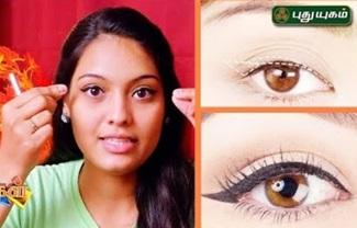 Easy Winged Eyeliner Trick | Thuligal | Puthuyugam Tv