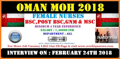 OMAN MOH FEBRUARY 2018 APPLY NOW