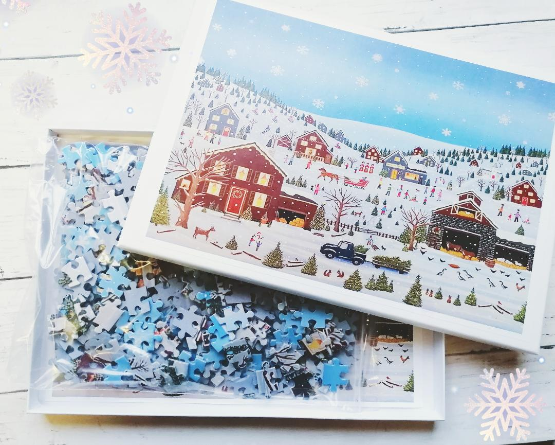 nowy Winter Village Jigsaw Puzzle from Puzzle Crazy review