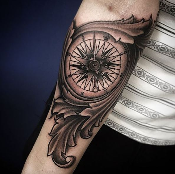 50+ Compass Tattoos For Men (2019) Designs & Meanings - TattoosBoyGirl