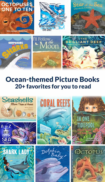 a collection of picture books about the ocean
