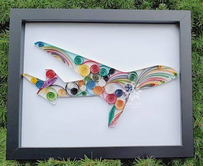 Paper Quilling Aeroplane