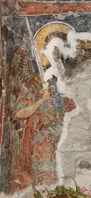 Архангел Михаил кај јужниот ѕид од наосот, прва зона