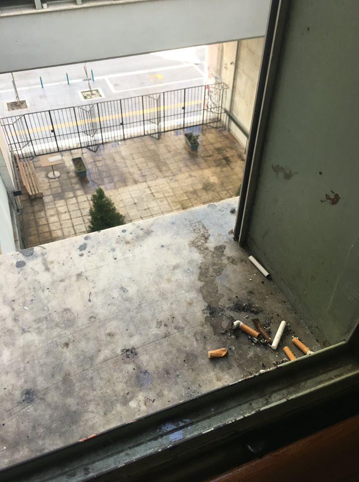 Πρόστιμο γιατί κάπνιζε στο Δικαστικό Μέγαρο Λάρισας