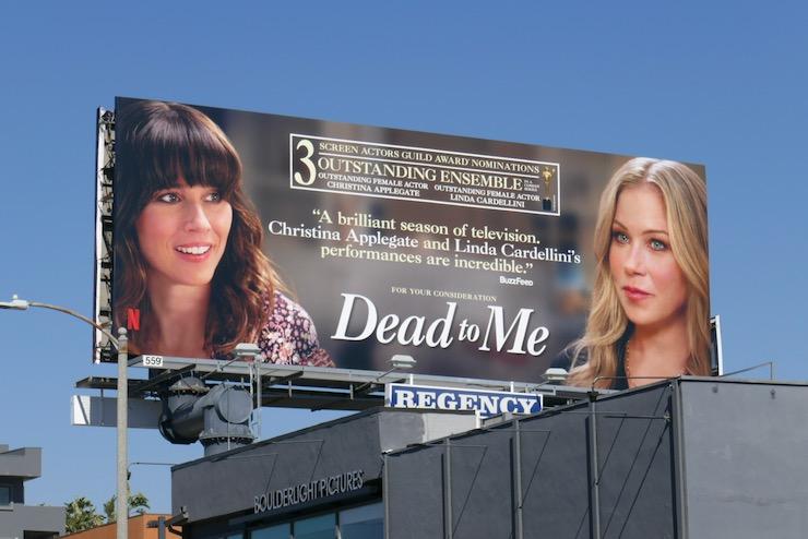 Dead To Me season 2 SAG Award nominee billboard