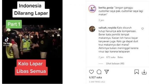 Viral Video 'Indonesia Dilarang Lapar', Ini Komentar Warganet