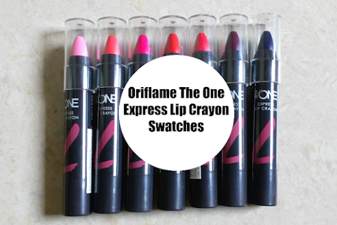 Watch swatches of all Oriflame The One Express Lip crayons on my channel