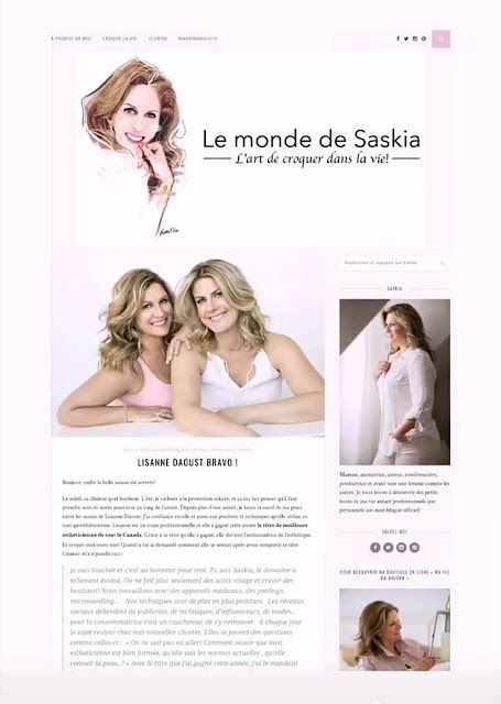 Saskia Thuot custom portrait, fashion portrait illustration by Ben Liu, Montreal Artist, blog web design banner with art