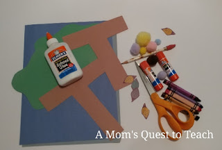 Preschool Crafts - Materials for Letter T Craft