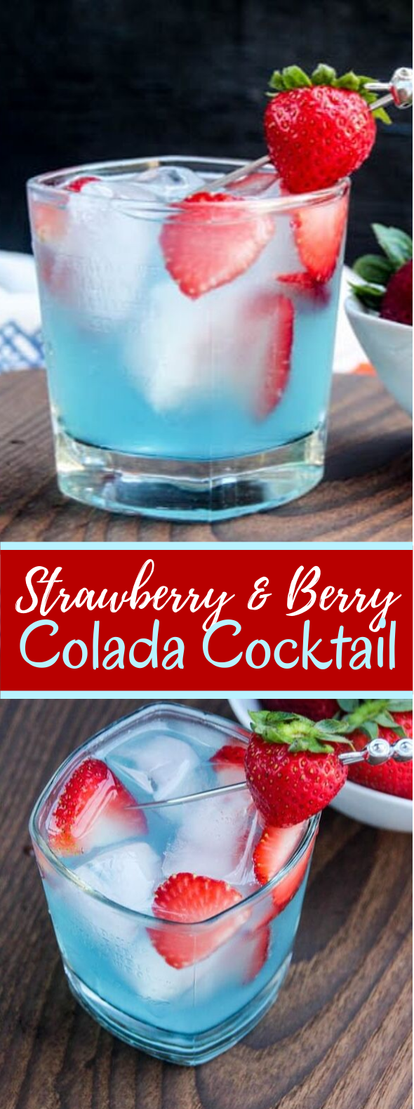 STRAWBERRY & BERRY COLADA COCKTAIL #drinks #summerdrink