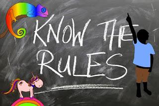 """Collage mit Text """"know the rules"""" von Miriam Jug"""