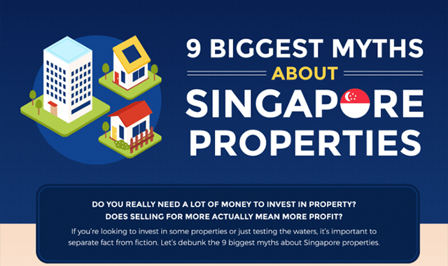 9 Biggest Myths About Singapore Properties #infographic