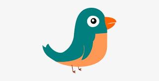 Gambar burung kartun yang mudah