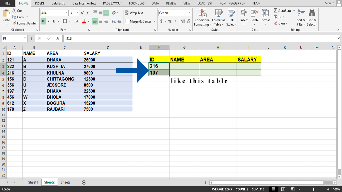 How to use VLOOKUP function in Excel - Data analysis