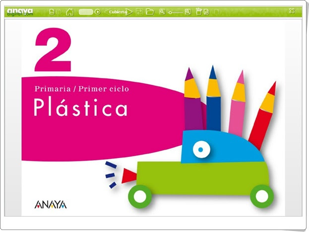 """""""Libro digital de Plástica de 2º de Primaria"""" (Editorial Anaya)"""
