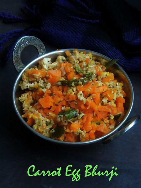 Scrambled eggs with carrot