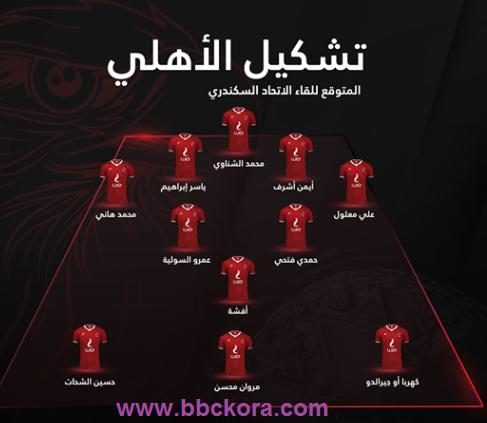 موعد مباراة الأهلي والاتحاد السكندري في كأس مصر التشكيلة والقنوات الناقلة