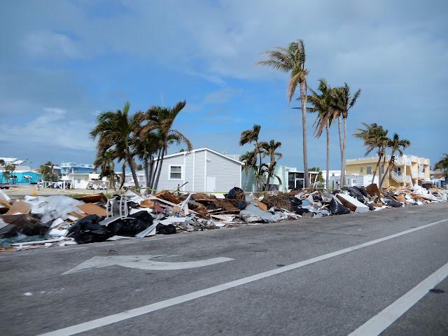Huellas del huracán que visitó Miami hace unos meses