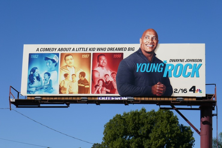 Young Rock series premiere billboard