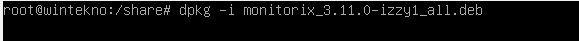 Install monitorix