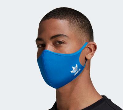 máscaras faciais da Adidas estão de volta