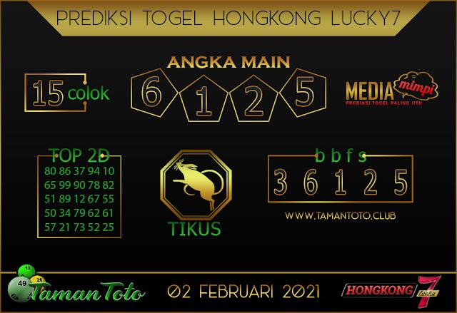 Prediksi Togel HONGKONG LUCKY 7 TAMAN TOTO 03 FEBRUARI 2021