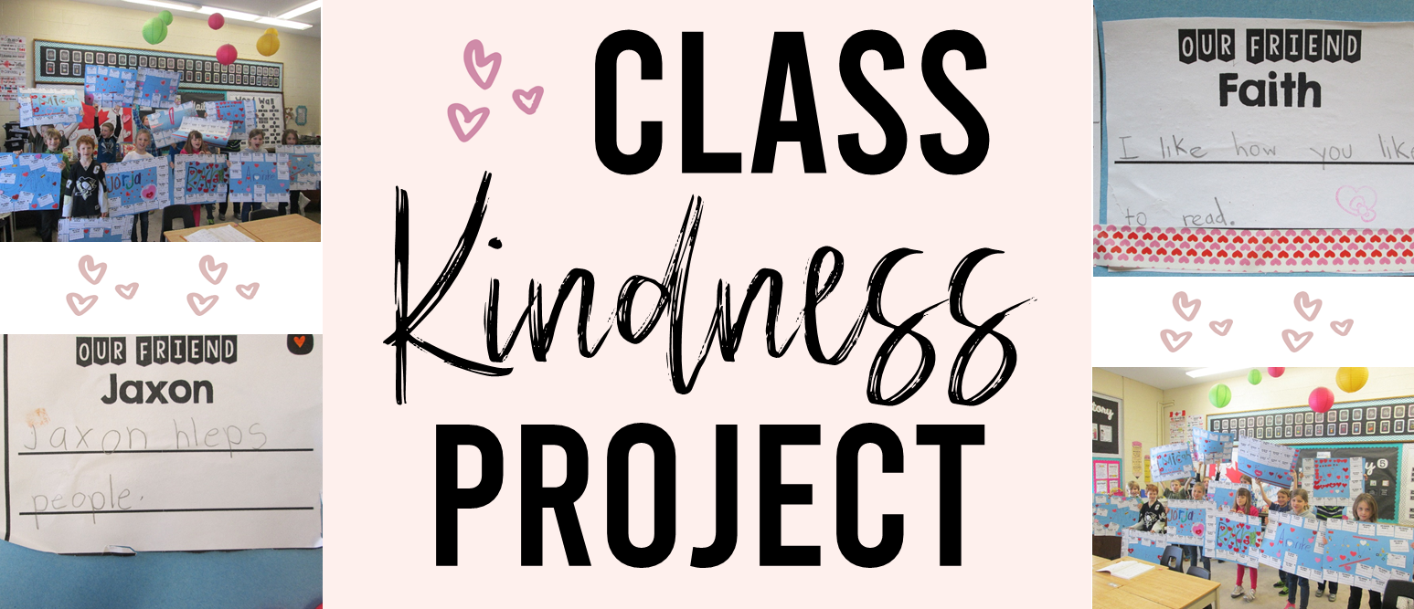 Valentine's Day Kindness Project where students build up their peers and make posters about their classmates. A very special community building class activity! #valentinesday #communitybuilding #kindness #valentinesdayart