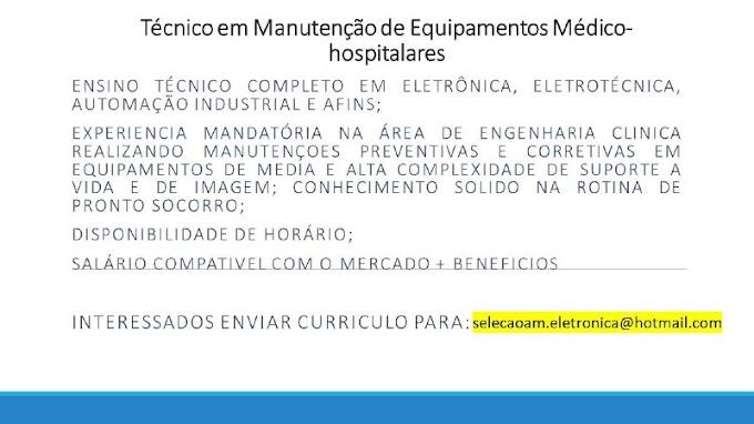 TÉCNICO EM MANUTENÇÃO DE EQUIPAMENTOS MÉDICO - HOSPITALARES