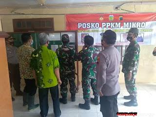 Dandim 0719/Jepara Kunjungi Pos PPKM Desa Tubanan