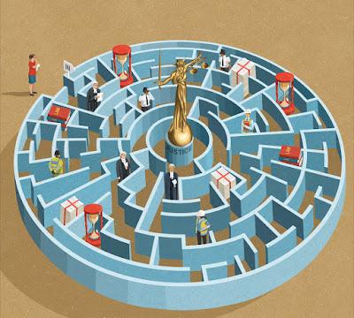 justica-em-um-labirinto-com-muitos-obstaculos