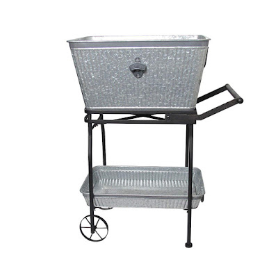 galvanized bucket for food and drinks at party