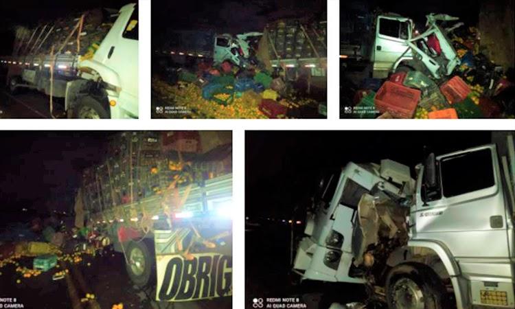 Caminhões batem de frente e um dos motoristas morre na BA-026, em Maracás