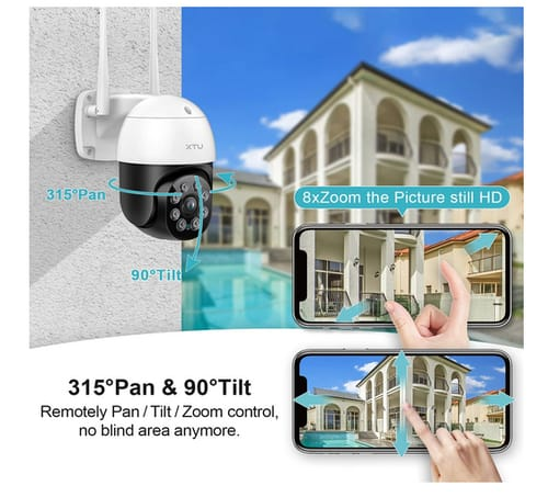 XTU Outside IP Surveillance Security Cameras