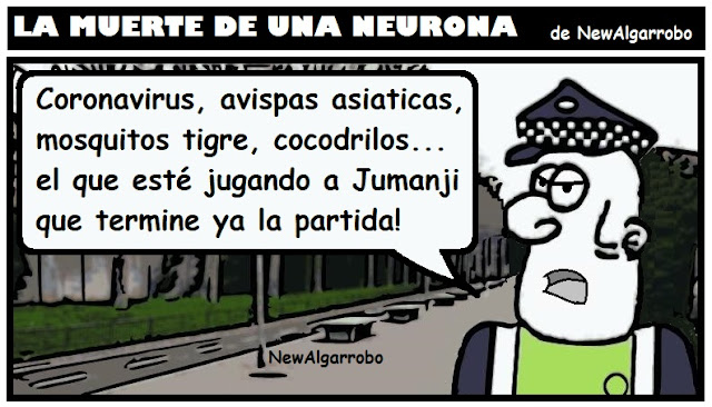 chiste jumanji, chiste coronavirus, chiste covid19
