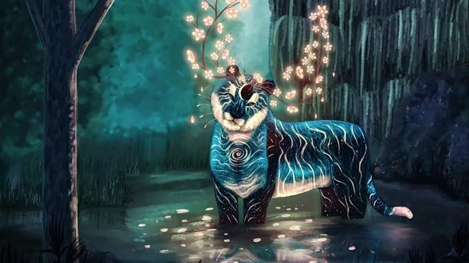 Fantasia Tigre Espírito da Floresta