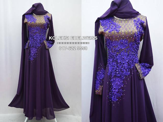 songket  ungu emas