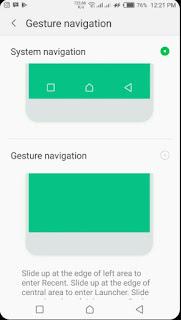 Infinix Zero 5 gestures navigation