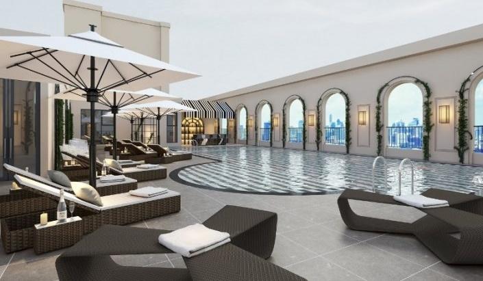 Không gian bể bơi king palace