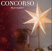 Logo Vinci gratis una Lampada Kirsa a forma di stella
