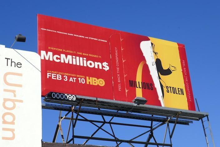 McMillions HBO series billboard