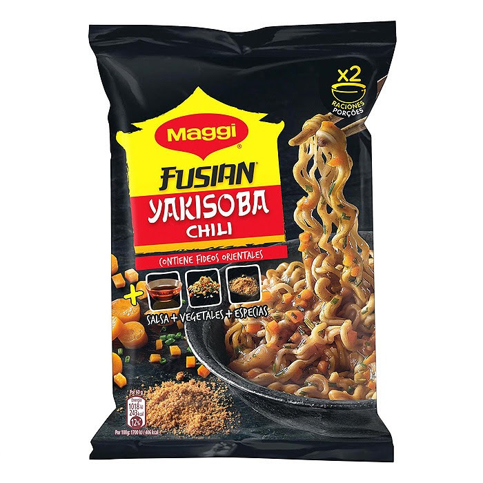 Ingredientes - Maggi Fusian Yakisoba Chili