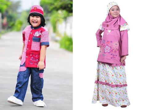 gambar baju muslim anak keke