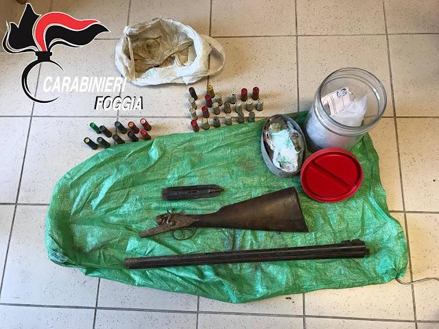 Cagnano Varano (FG), i Carabinieri arrestano 40enne per possesso di arma clandestina