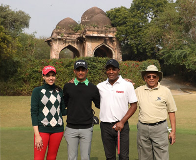 Brian Lara at the DGC, with Siddharth Shriram, Gauri Monga and Shubham Jaglan