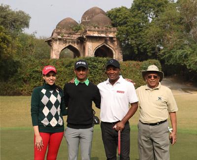 Brian Lara at the DGC, with Siddharth Shriram, Gauri Monga and Shubham Jaglan