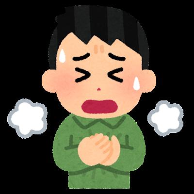 呼吸困難のイラスト(男性)