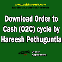 Download Order to Cash (O2C) Cycle by Hareesh Pothuguntla, www.askhareesh.com