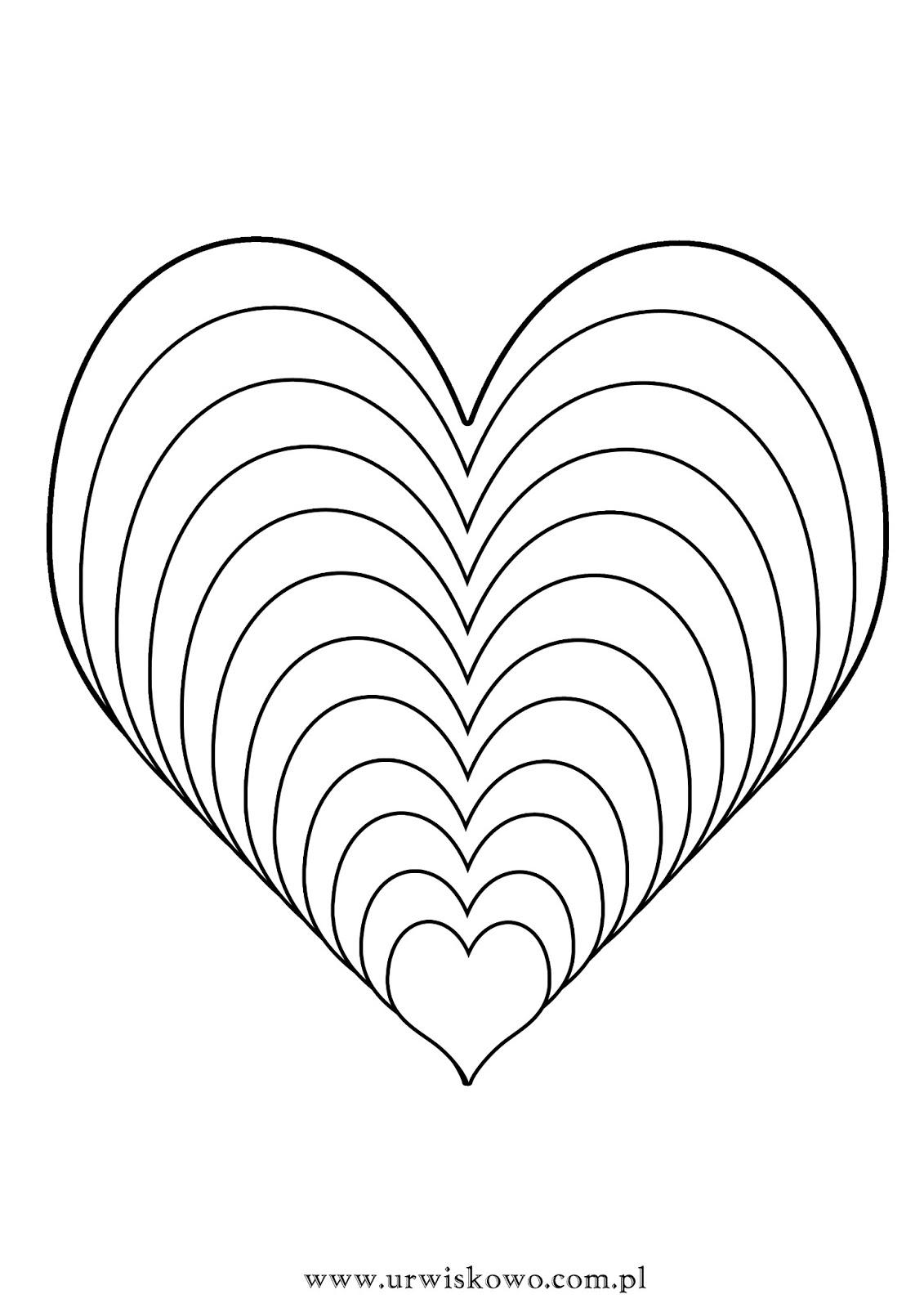 100 Kolorowanka Serce Kolorydladzieci