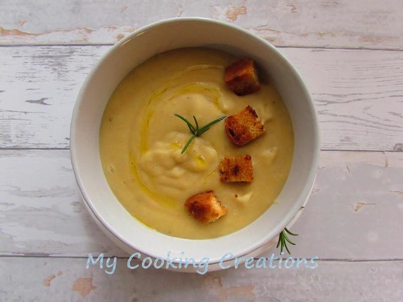 Крем супа от нахут и картофи * Vellutata di ceci e patate