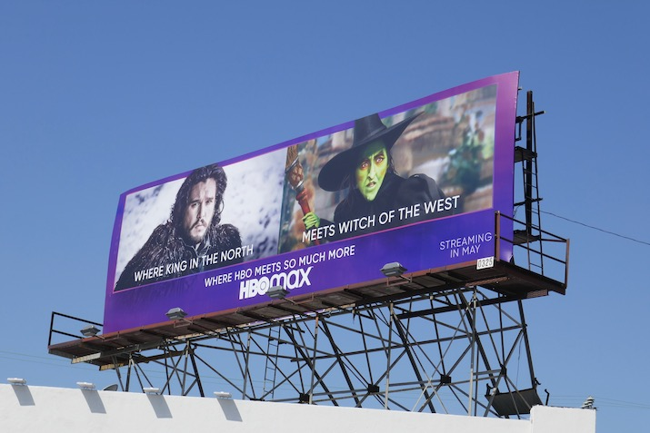 HBO Max Where King North meets Witch West billboard